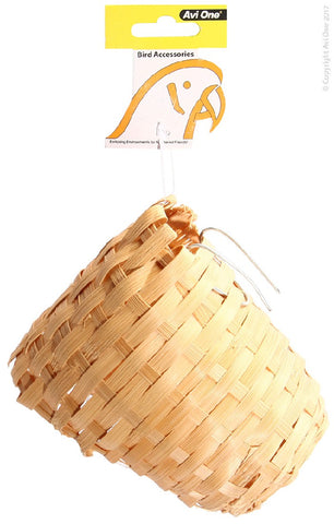 Bird Nest (Finch) Wicker with Hanging Bracket (M)