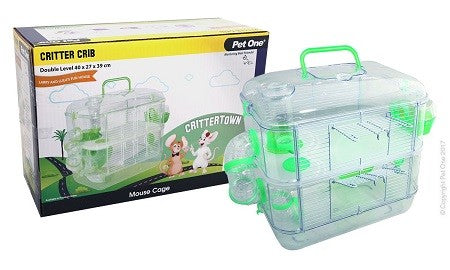 Critter Crib Mouse Habitat 2 Level 40L X 27W X 39cm H Green