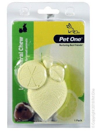 Small Animal Mineral Chew Lemon 1 Pack
