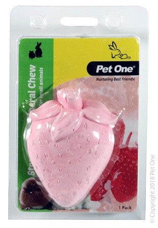 Small Animal Mineral Chew Strawberry 1 Pack