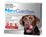 NEXGARD CHEWABLES 25-50KG 3 PK red