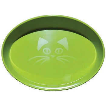 SCREAM BOWL CAT OVAL GREEN 300ML