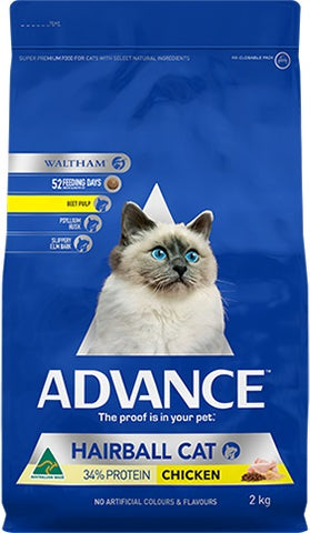 ADVANCE CAT HAIRBALL CHICKEN 2KG