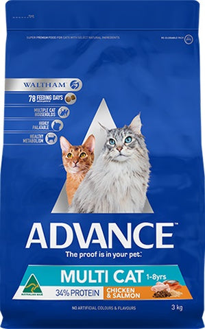 ADVANCE MULTI CAT CHICKEN/SALMON 3KG