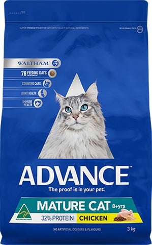 ADVANCE MATURE ADULT FELINE CHICKEN 3KG