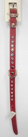 DOGUE COLLAR GLAMOUR RED 35CM MINI