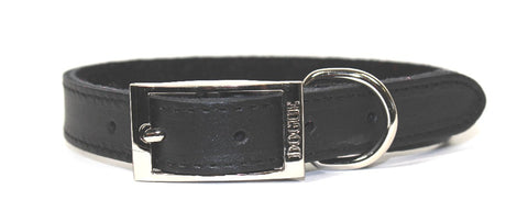 DOGUE COLLAR PLAIN JANE BLACK 55CM