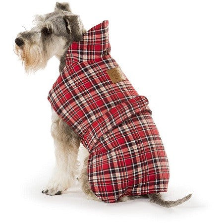 COAT ALL WEATHER TARTAN RED 50CM