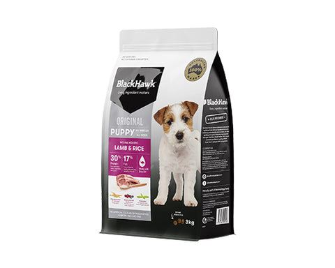 BLACKHAWK PUPPY HOLISTIC LAMB & RICE 3KG
