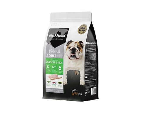 BLACKHAWK HOLISTIC ADULT DOG CHICKEN & RICE 3KG