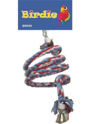 Birdie - Jumbo Rope Spiral with Bell