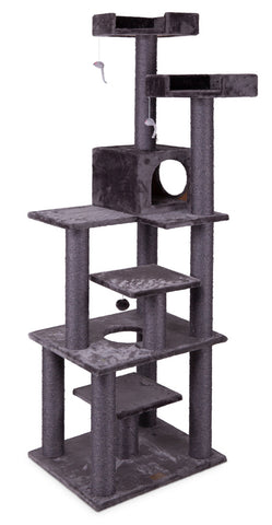 Cat Scratcher 7 Level Playground Charcoal