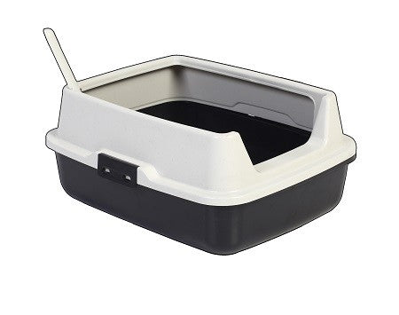 CAT LITTER HIGH RIM TRAY W SPOON