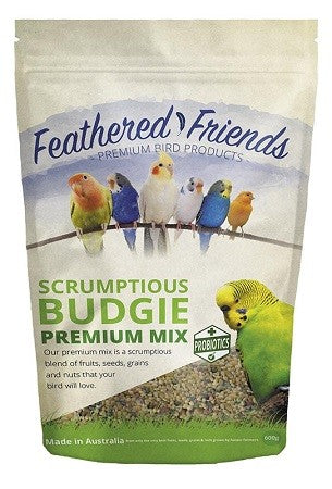 FEATHERED FRIENDS BUDGIE MIX 600G