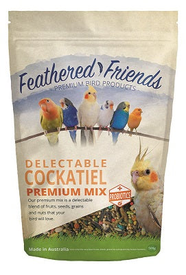 FEATHER F COCKATIEL MIX 500G