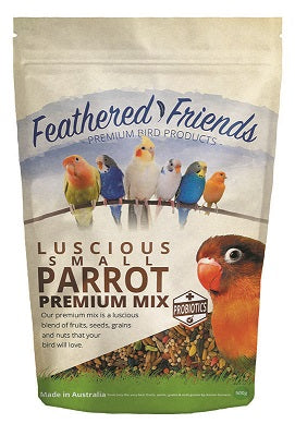 FEATHERED FRIENDS SML PARROT MIX 500G