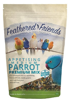FEATHER F MED PARROT MIX 500 G