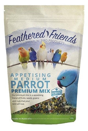 FEATHERED FRIENDS MED PARROT PREMIUM MIX 1.8KG