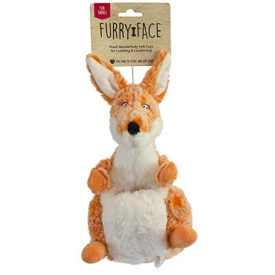 FURRY FACE FUR BABY KANGAROO 24CM