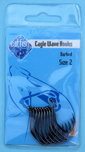 Maruto Eagle Wave Hook Size 6 to Size 10/0 (Barbed)