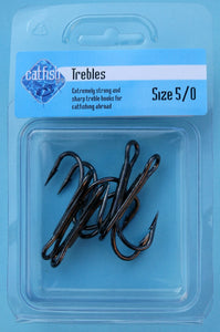 Extra Strong Trebles Size 4/0 - 5/0 (Barbed)