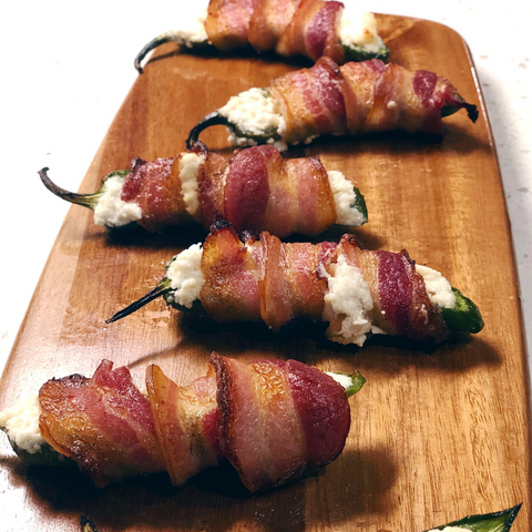 Bacon Wrapped Jalapenos | Smokin Oaks Organic Farms in Tennessee