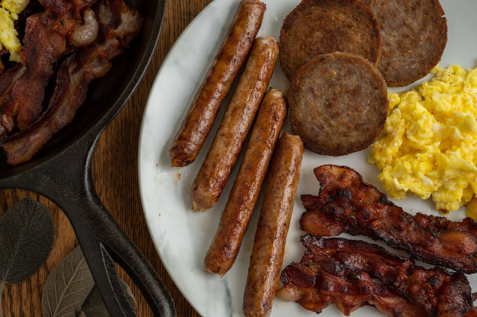 Breakfast Sausage Links with Ground Bacon (1 lb.)