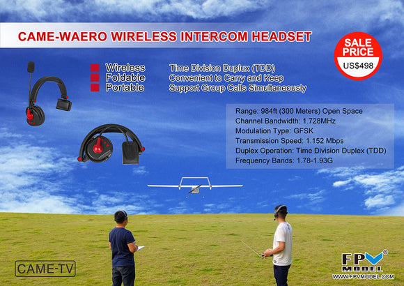 FPVModel Becomes Sole Agent for CAME-TV Wireless Intercom Headset