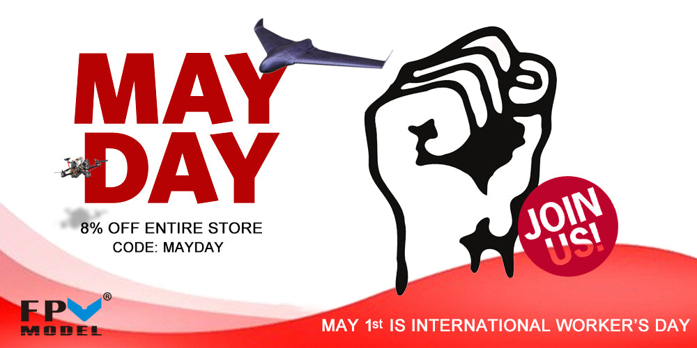 8% oFF Entire Store May Day Promotion