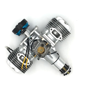 DLE 120CC TWIN UAV ENGINE With 14V 80W/180W Power Generator System