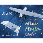 Mini Mugin 2.6m UAV T tail/V tail platform frame kit New