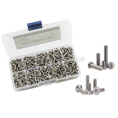 Stainless Steel RC Screw Kit, 720pcs/Kit