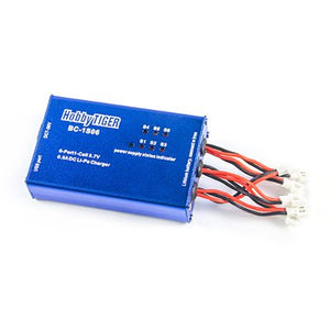 HobbyTiger BC-1S06 Lipo 6 Port Battery Charger Balance Quick