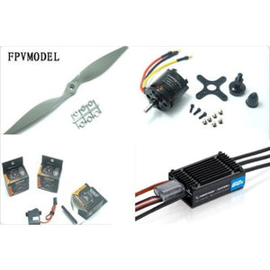 Skyhunter Airplane Power Combo (Motor, ESC, Props and Servos kit)