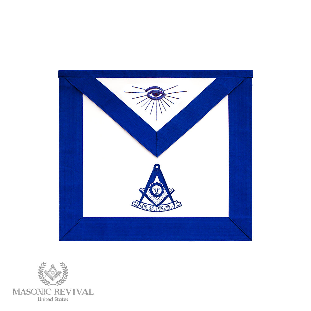 Past Master Apron (Blue Symbol)