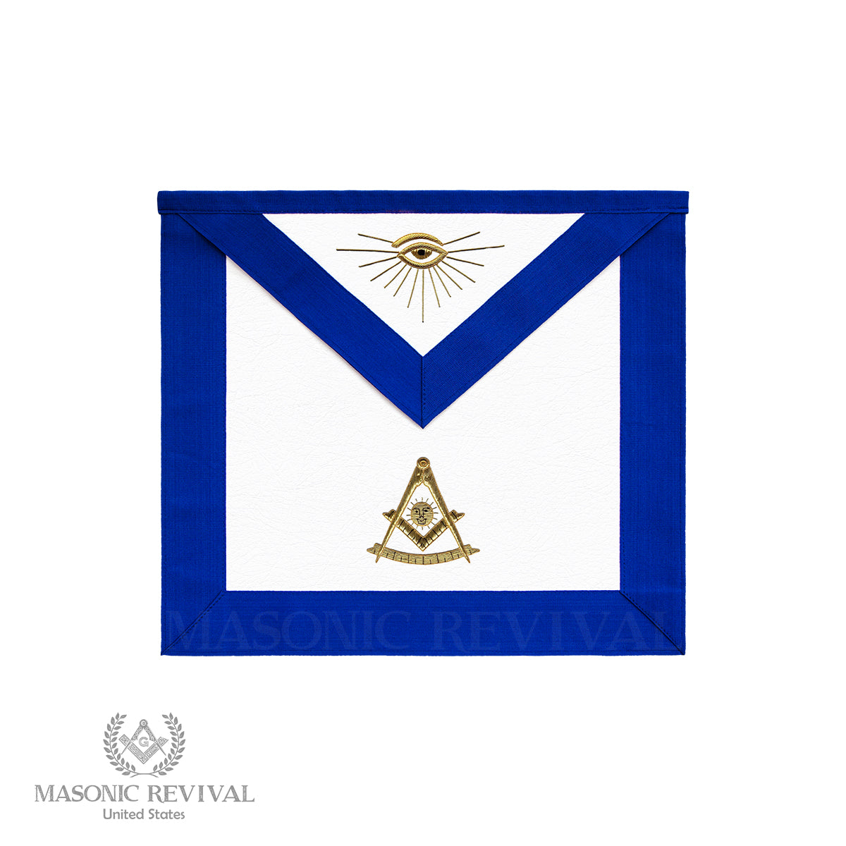Past Master Apron (Gold Symbol)