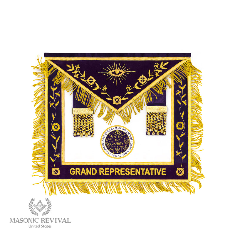 Grand Lodge of Illinois // Grand Representative Apron