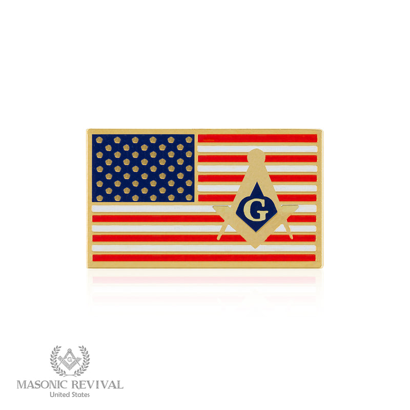 USA Flag // Gold