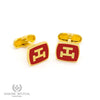 Royal Arch Cufflinks // Red