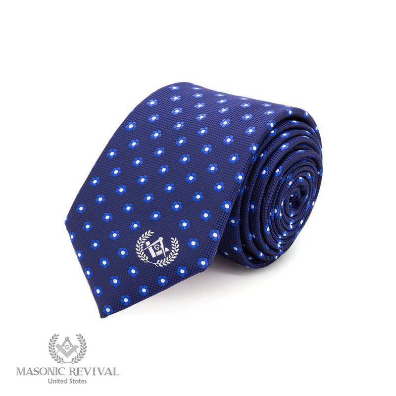 Forget Me Not Necktie // Blue