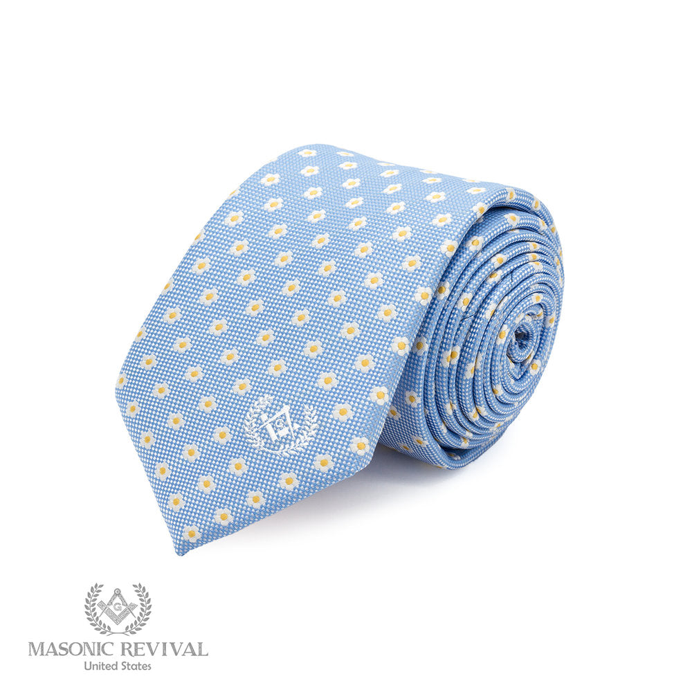 Forget Me Not Necktie // Light Blue