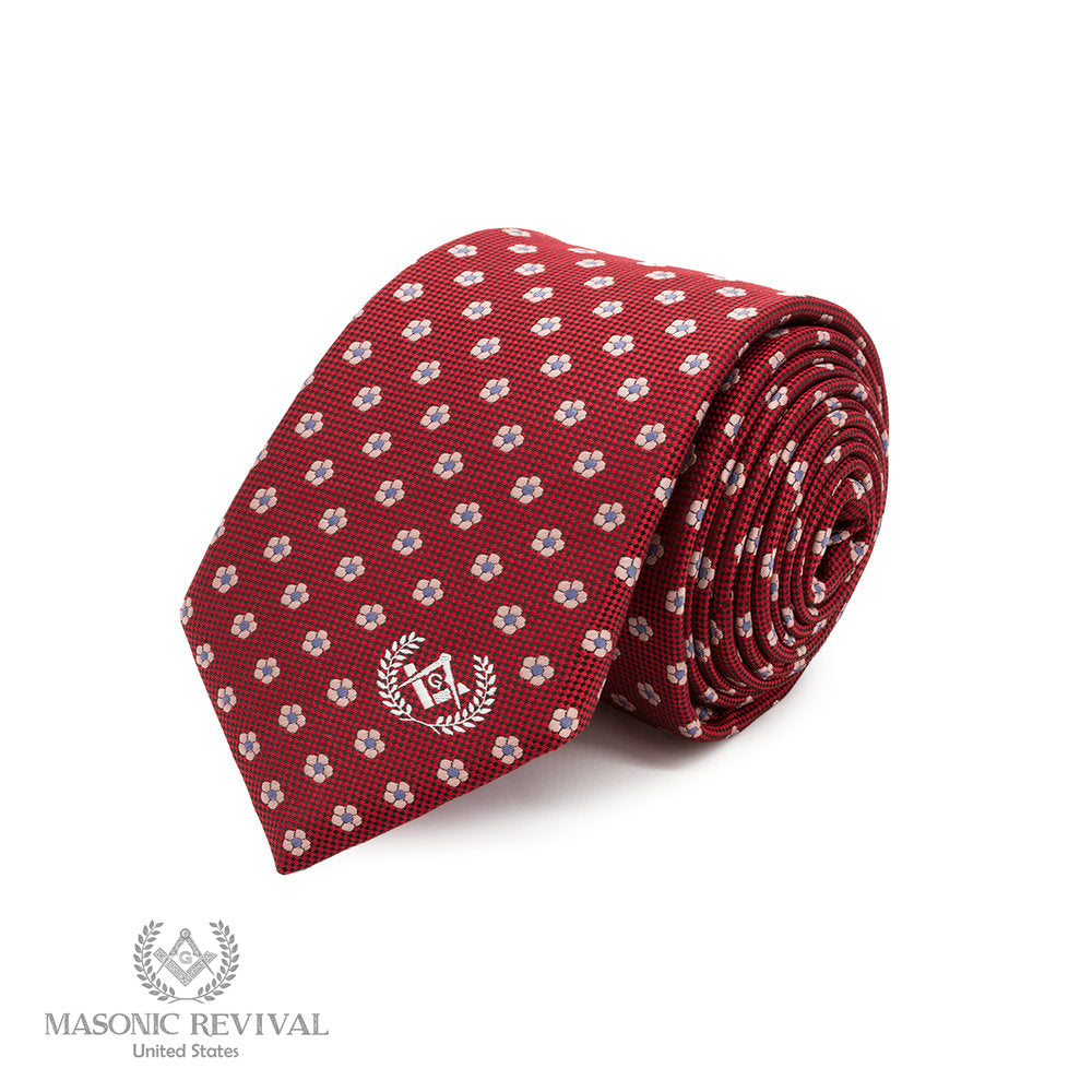Forget Me Not Necktie // Red