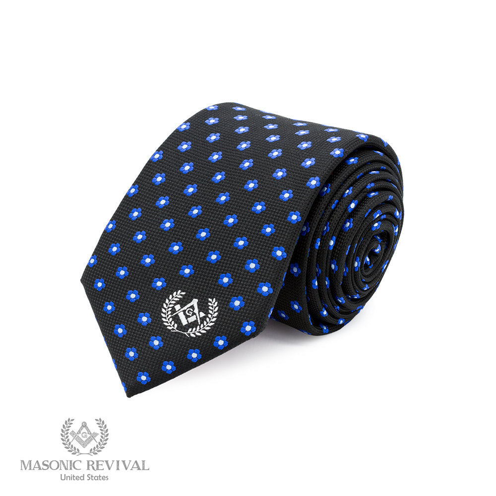 Forget Me Not Necktie // Black