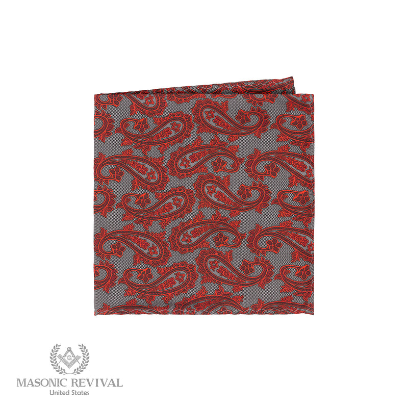 Gris Paisley // Pocket Square