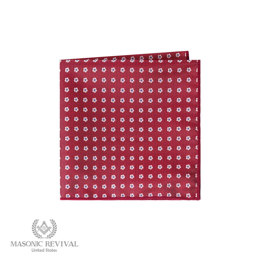 Forget Me Not Red // Pocket Square