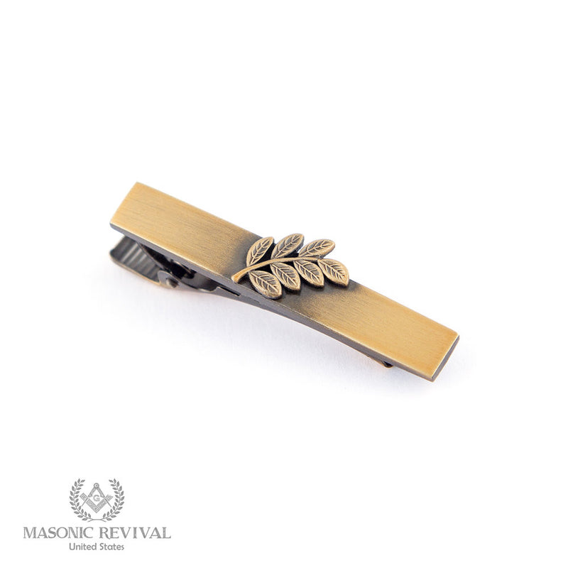 Sprig of Acacia Tie Bar // Antique Gold