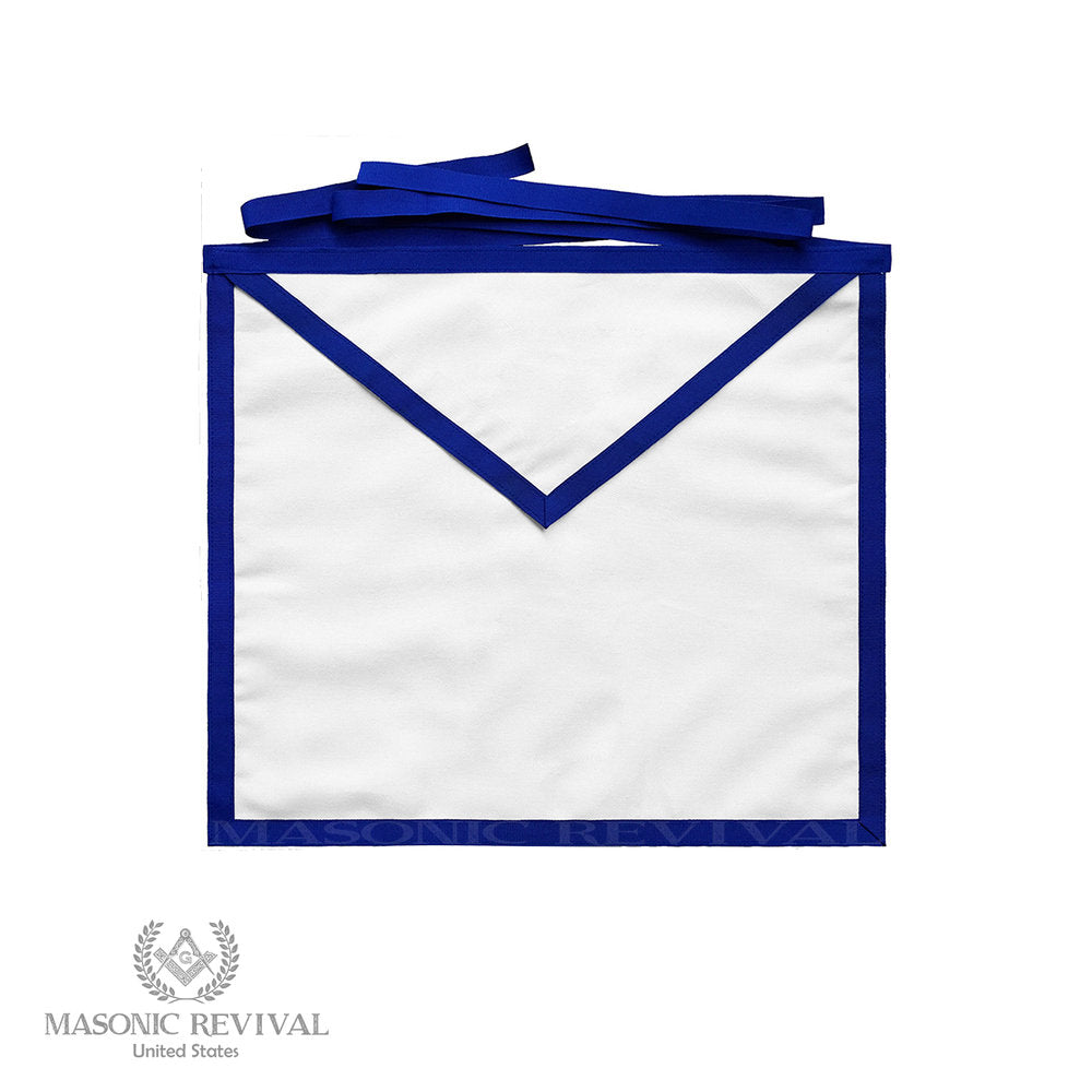Cotton Member Apron (Dozen, Blue Trim)