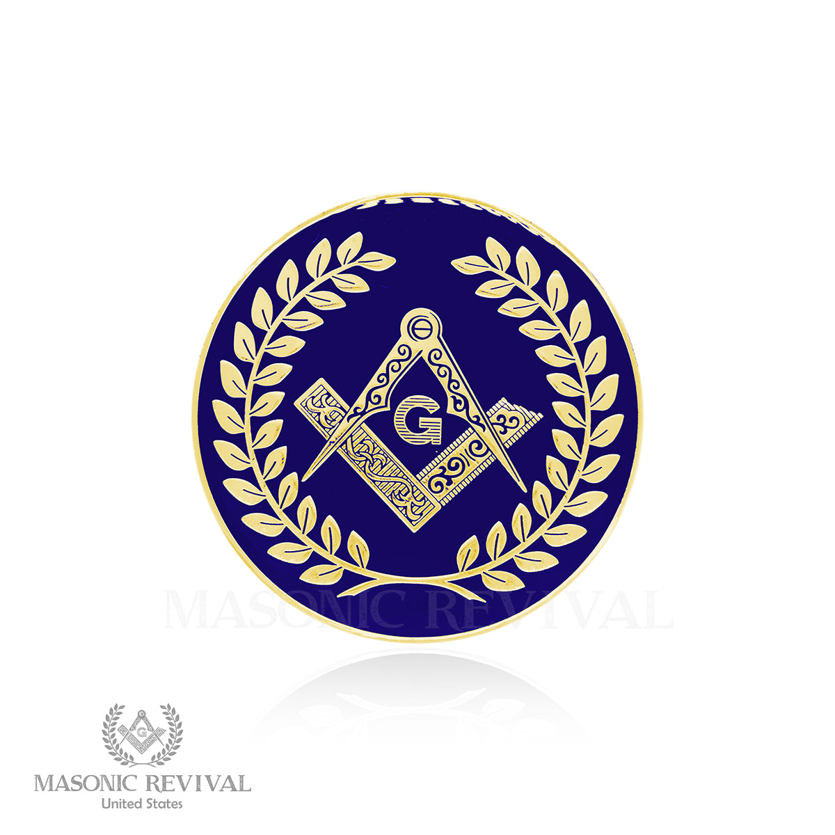 Insignia Auto Decal (Blue & Gold)