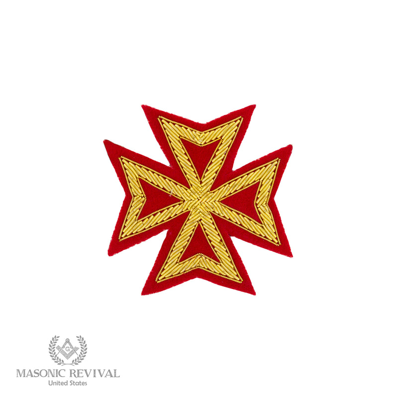 Malta Cross Embroidery Patch