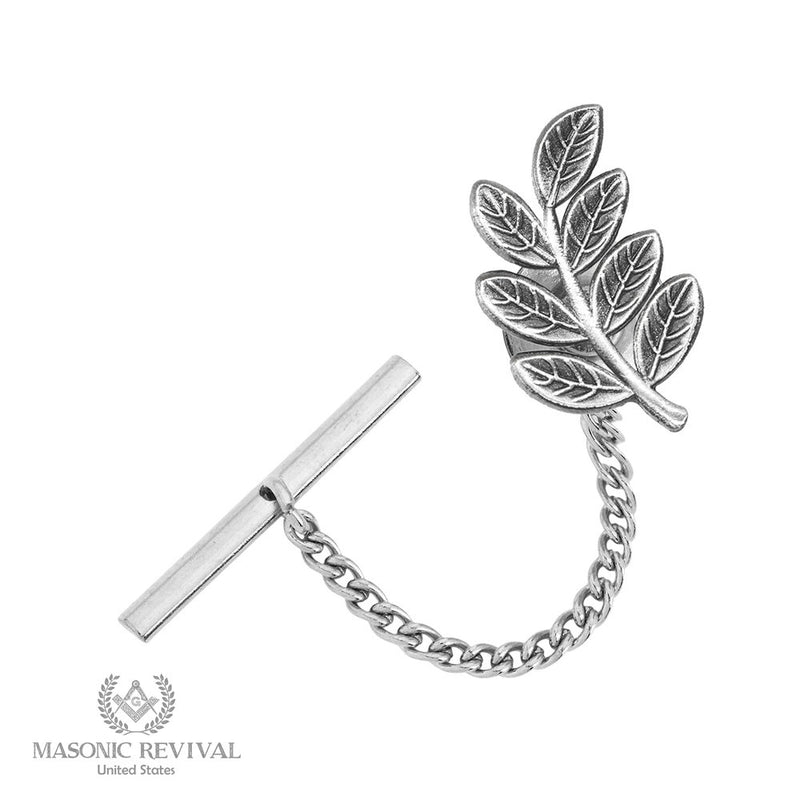 The Sprig of Acacia // Tie Tack Silver